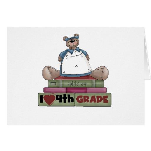 Bear I Love 4th Grade Card