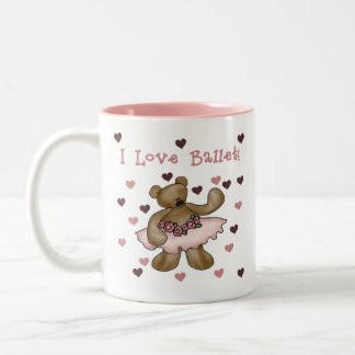 Bear I Love Ballet Two-Tone Coffee Mug