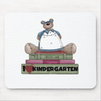 Bear I Love Kindergarten Mouse Mat