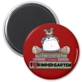Bear I Love Kindergarten Tshirts and Gifts 6 Cm Round Magnet