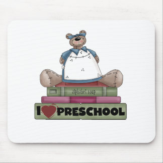 Bear I Love Preschool Mouse Mat