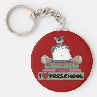 Bear I Love Preschool Tshirts and Gifts Key Chain
