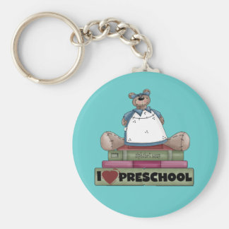 Bear I Love Preschool Tshirts and Gifts Keychains