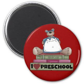 Bear I Love Preschool Tshirts and Gifts Magnets