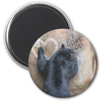 BEAR I LOVE YOU - BEAR WITH ME 6 CM ROUND MAGNET