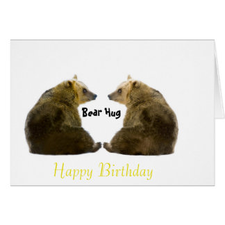 Bear image for Birthday-greeting-card Card