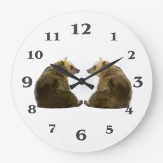 Bear image for Round-Large-Wall-Clock Clock