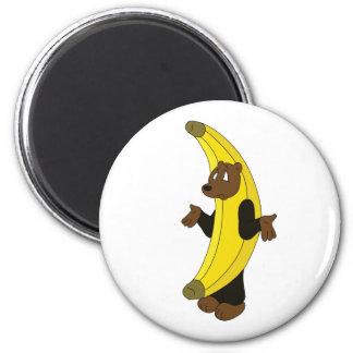 Bear in Banana Suit Magnet