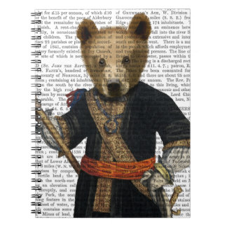 Bear in Blue Robes 2 Notebooks