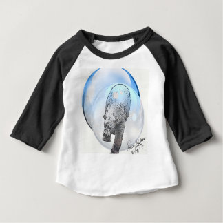 Bear in bubble motif baby T-Shirt