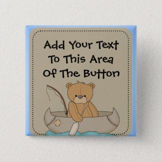 Bear in Canoe Button