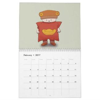 Bear-in-hat 2017 Calendar