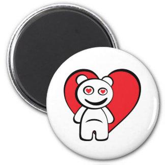 Bear in Love Refrigerator Magnet