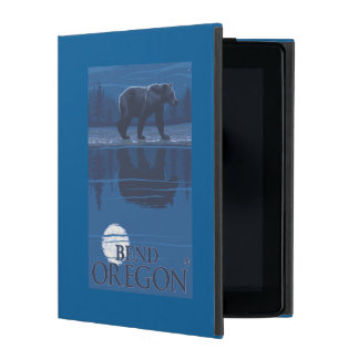 Bear in Moonlight - Bend, Oregon Cover For iPad