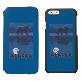 Bear in Moonlight - Cordova, Alaska Incipio Watson™ iPhone 6 Wallet Case
