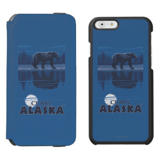 Bear in Moonlight - Curry, Alaska Incipio Watson™ iPhone 6 Wallet Case