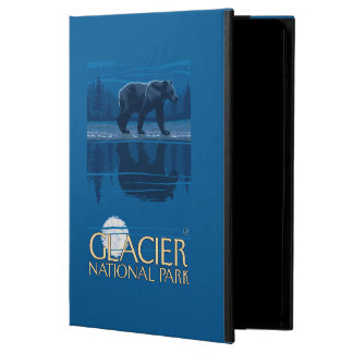 Bear in Moonlight - Glacier National Park, MT Cover For iPad Air