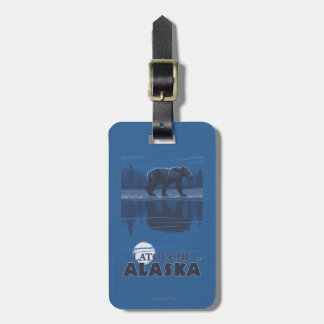 Bear in Moonlight - Latouche, Alaska Luggage Tag