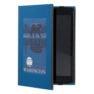 Bear in Moonlight - Mount Adams, Washington Cover For iPad Mini