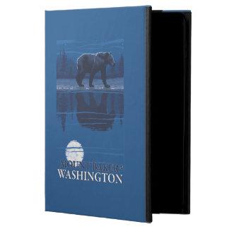 Bear in Moonlight - Mount Baker, Washington Cover For iPad Air