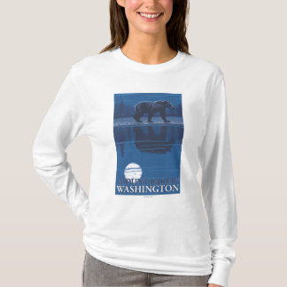 Bear in Moonlight - Mount Baker, Washington T-Shirt