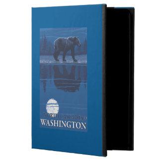 Bear in Moonlight - North Cascades, Washington Cover For iPad Air