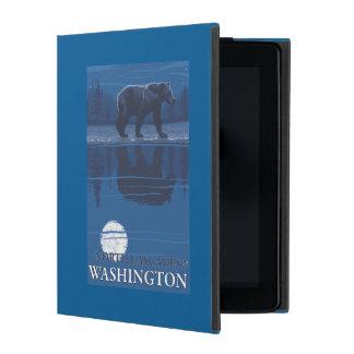Bear in Moonlight - North Cascades, Washington iPad Cases