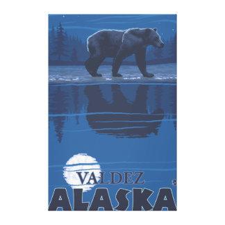 Bear in Moonlight - Valdez, Alaska Gallery Wrap Canvas