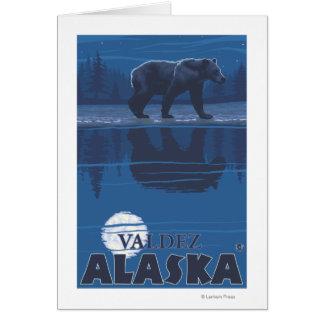 Bear in Moonlight - Valdez, Alaska Card