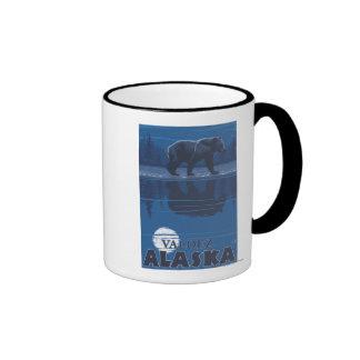 Bear in Moonlight - Valdez, Alaska Mugs