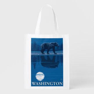 Bear in Moonlight - Washington