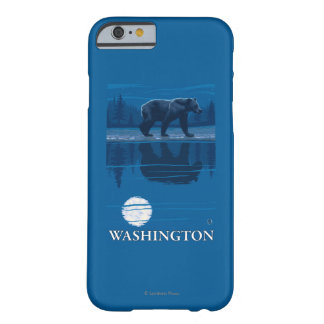 Bear in Moonlight - Washington Barely There iPhone 6 Case