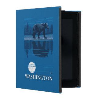 Bear in Moonlight - Washington iPad Folio Case