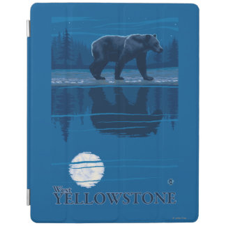 Bear in Moonlight - West Yellowstone, Montana iPad Cover
