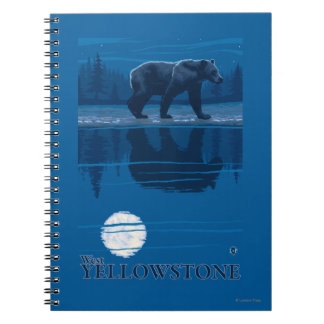 Bear in Moonlight - West Yellowstone, Montana Note Book