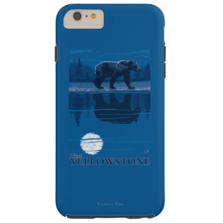 Bear in Moonlight - West Yellowstone, Montana Tough iPhone 6 Plus Case