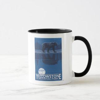 Bear in Moonlight - Yellowstone National Park Mug