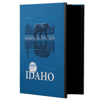 Bear in MoonlightIdahoVintage Travel Poster Case For iPad Air
