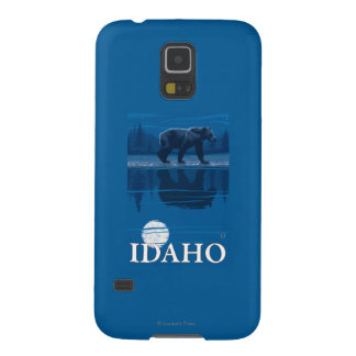 Bear in MoonlightIdahoVintage Travel Poster Cases For Galaxy S5