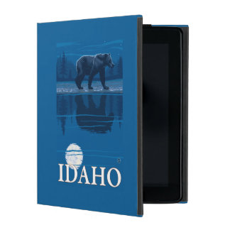 Bear in MoonlightIdahoVintage Travel Poster Covers For iPad