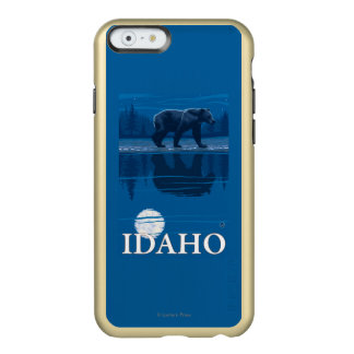 Bear in MoonlightIdahoVintage Travel Poster Incipio Feather® Shine iPhone 6 Case