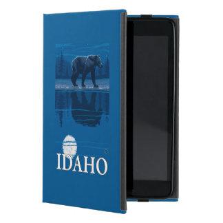 Bear in MoonlightIdahoVintage Travel Poster iPad Mini Cover