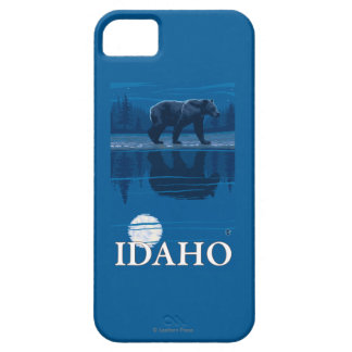 Bear in MoonlightIdahoVintage Travel Poster iPhone 5 Case