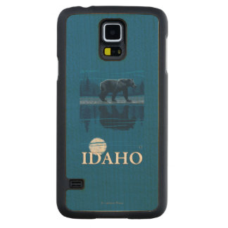 Bear in MoonlightIdahoVintage Travel Poster Maple Galaxy S5 Slim Case