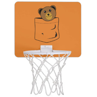 Bear in pocket mini basketball hoop