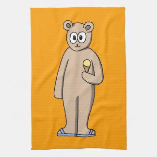 Bear in Summer. Tea Towel