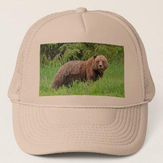 Bear in the Grass Trucker Hat