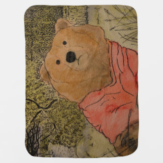 Bear in the Woods Baby Blanket