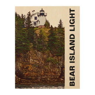 BEAR ISLAND WOOD WALL DECOR