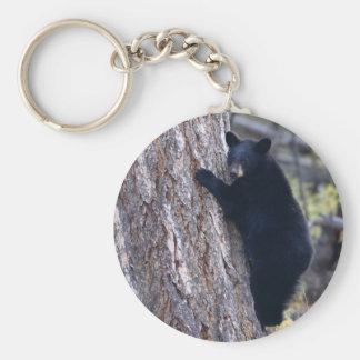 bear basic round button key ring